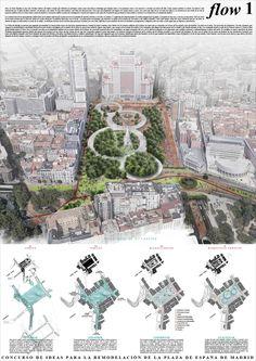 Estas son las propuestas que compiten para remodelar la Plaza España en Madrid,Flow. Image © Difusión Ayuntamiento de Madrid