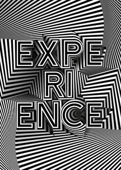 We are showcasing this bold piece of commissioned typography artwork by freelance graphic designer Mario De Meyer for Adobe's 'Experience' seminar at the Cannes Lions Festival 2016.