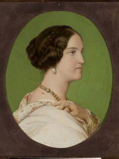 M.Ob.1262; Delaroche Hippolite zw. Paul (1797-1856) (malarz, kopia); Portret Delfiny Potockiej (1807-1877); olej; płótno; 60,5 x 49