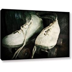 ArtWall Kevin Calkins Rustic Rollers Gallery-Wrapped Canvas, Size: 12 x 18, Black