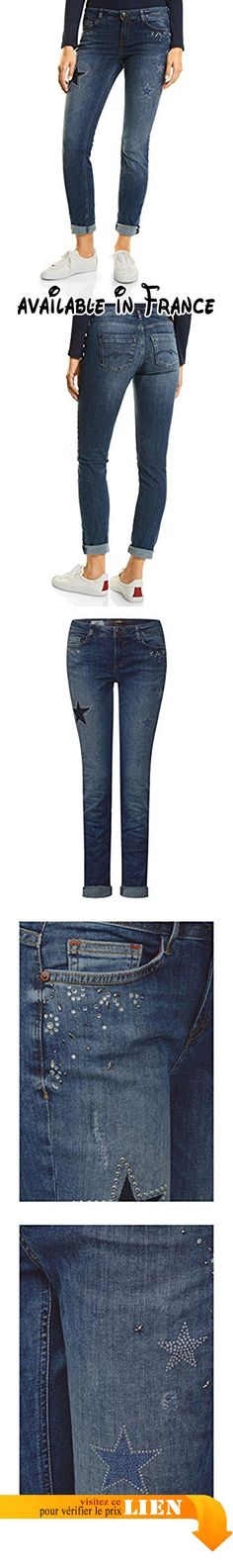 B073YDNSMK : Street One Denim-Jane Casualfit Mw Slimleg Sparkle Jean Slim Femme Blau (Authentic Blue Sparkling Wash 11140) W44/L30.
