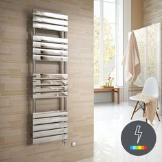 1600x450mm - Francis Thermostatic Flat Panel Electric Towel Radi [PT-RE85] - £349.99 : Platinum Taps & Bathrooms