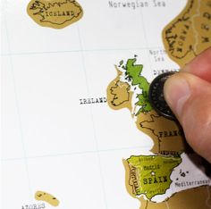 Scratch off every country you have visited with this interactive map. | 28 Inspiring Decor Ideas To Satisfy Your Wanderlust