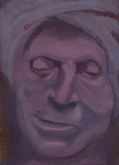 Saatchi Art Artist Willem van der Weide; Marat, 35x25 cm, oil on linen, 2013  #portrait #Marat #death