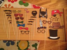 Homemade DIY Photo Booth Props