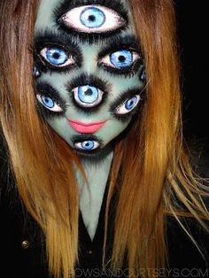 I've Got My Eyes on You - Halloween Makeup ~ Bows and Curtseys...Mad About Makeup