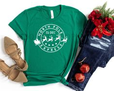 North Pole Express Graphic Tee - Large / Athletic Heather