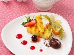 Wiesław Bober: Ananas grillowany z cynamonem, podany z musem z czekolady