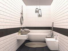 Bagno piccolo con vasca 02 Home, Bathtub, Sweet Home, Furniture, Interior, Bathroom