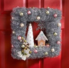 This wreath was made by @Cathie Filian. I am pinning it to this board because it is the inspiration for my wreath(s) that are on this board. Thanks Cathie! Love your work!