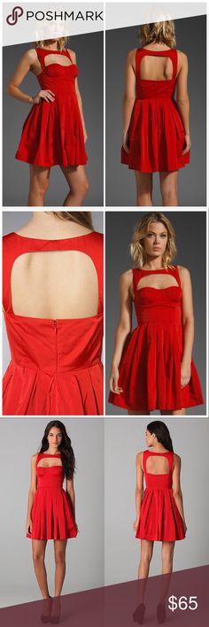 {BB Dakota} Red Kassia Dress Red Cutout dress from BB Dakota. Size 4, fits a C cup best, since it fits a bit large in the chest. Underwire bra cups. Brand new with tag. BB Dakota Dresses