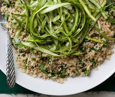 Serve Quinoa and Asparagus Salad with Mimosa Vinaigrette as a Passover appetizer