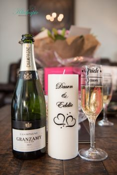 Personalised champagne wedding glass and personalised wedding candle Photography by Klickapick photography Best Wedding Venues, Wedding Blog, Wedding Planner, On Your Wedding Day, Perfect Wedding, Bride Speech, Wedding Brochure, Father Of The Bride, Intimate Weddings