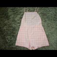 AA Romper super cute pink romper! open back that crosses! barely ever worn! make me offers ! American Apparel Other