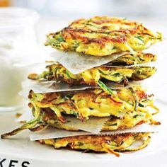 Zucchini Pancakes: the perfect savory snack, and a great way to use up all that zucchini from the garden! | Living the Country Life | http://www.livingthecountrylife.com/country-life/food/zucchini-pancakes