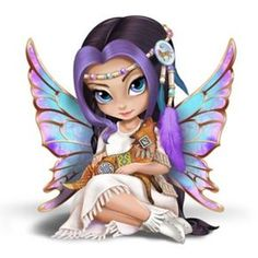 The Hamilton Collection Jasmine Becket-Griffith Mystical Maiden Fairy Figurine with Laurie Prindle Art Fairy Pictures, Cute Pictures, Jasmine Becket Griffith, Animal Spirit Guides, Snow Fairy, Kobold, Cute Fairy, Fairy Figurines, Gothic Fairy