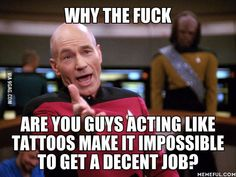 right!  lets stop making snap judgements about tattooed folks. tattoos do not tell you how skilled or responsible a person is.  end the stigma!