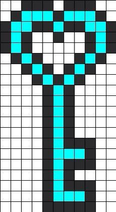 Pixel art kingdom heart