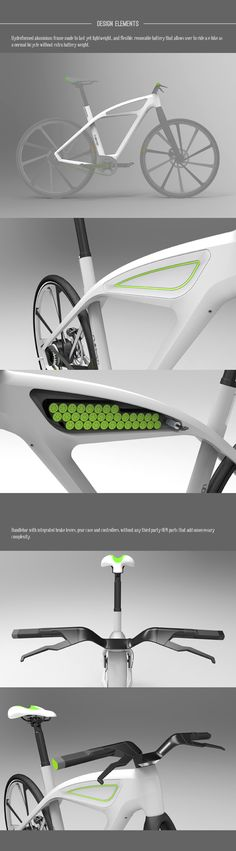 eCycle-electric bicycle design concept by Milos Jovanovic, via Behance