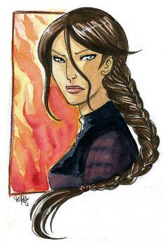 The Hunger Games - Katniss by =KiraMizuno on deviantART