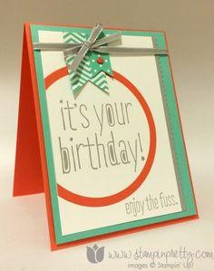 Stampin up stamping pretty big news stamp set blog demonstrator birthday card ideas big shot