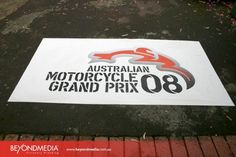 Sport graphic application at the Motorcycle Grand Prix.