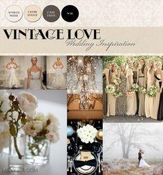 vintage wedding colors | Behind the Label: Tiffany Dessa: Vintage Love: Wedding Inspiration...