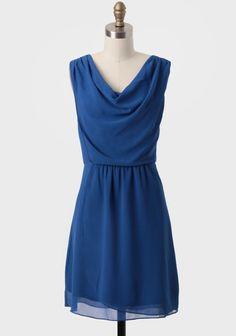 Suzette Draped Chiffon Dress