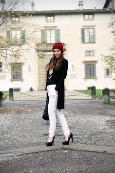 White pants on winter