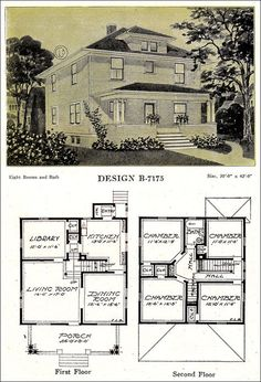 Modern American Homes Classic Foursquare – C. L. Bowes - 1918