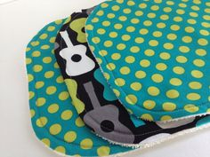ORGANIC+Guitar+Terry+Washcloth+Set+of+Three+by+WeeWhimsicals