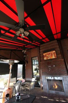 Outdoor Bar/dining Area With Custom Patio Awning And Cafe Curtain System At  Selwyn Pub In Charlotte. Complete With Heating/cooling/lighting Optionsu2026