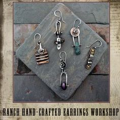 RANCH HAND-Crafted Earrings Workshop with Stacie Florer at ArtBliss
