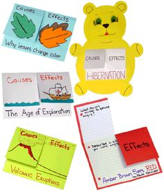 Causes & Effects Graphic Organizers  Elementary Level Ideas