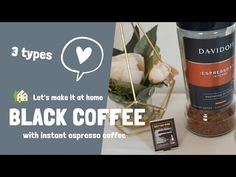 HAMA Cafe - Mini Cafe at home! - Easy recipes like real cafe! Today I'm going to show you three kinds of black coffee. Espresso At Home, Espresso Coffee, Black Coffee, Iced Coffee, Espresso Recipes, Coffee Recipes, Iced Americano, Mini Cafe, Cafe Style