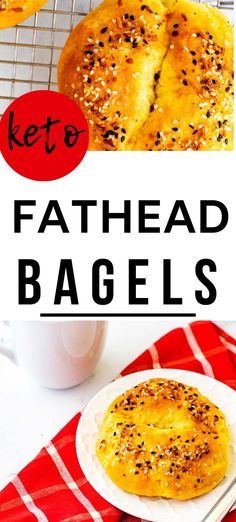 """No need to miss bagels on a low carb diet! These Keto Bagels are a delicious alternative that is surprisingly similar to the """"real thing."""" They are perfect for enjoying while lingering over a coffee cup on the weekend and work just as well for a make ahead breakfast for a busy weekday morning. #ketobread #bagels #ketobreakfast"""