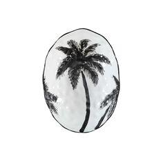 Serveerschaal palm, Wit