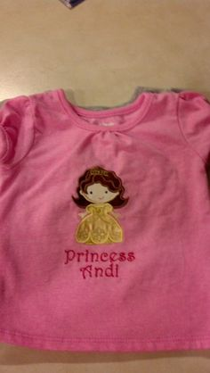 Appliqued and embroidered shirt made for granddaughter.
