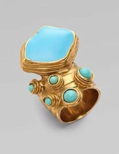 Ysl Arty Turquoise Ring