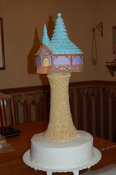 rapunzels tower cake- tutorial