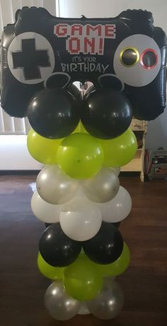 Xbox Party Balloon Decoration Gamer Birthday In 2019 Xbox Party Xbox Party Balloon Decoration Gamer Xbox Party, Game Truck Party, 13th Birthday Parties, Birthday Games, Balloon Birthday, 11th Birthday, Birthday Ideas, Balloon Decorations Party, Birthday Party Decorations