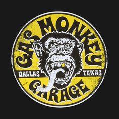 Gas Monkey Garage, Garage Signs, Garage Art, Gas Monkey Logo, Gaz Monkey, Old Signs, Vw T1, Bumper Stickers, Racing Stickers
