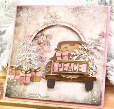 Truckin (and Shaking) Through the Season - New Released Sentiments Scrap Escape: Truckin (and Shaking) Through the Season - New Released Sentiments perfectly coordinated to match Spellbinders adorable truck die. I created a shaker card featuring Sparklet Pop Up Cards, Xmas Cards, Diy Cards, Holiday Cards, Quick Cards, Card Kit, Card Tags, Spellbinders Cards, Spellbinders Christmas Cards