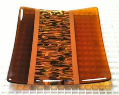 360 Fusion Glass Blog: Fall's Here: New Fused Glass Plates in Autumn Colors