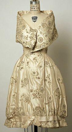 Silk evening dress, ca. 1958. by Simonetta.