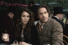 Still of Robert Downey Jr. and Noomi Rapace in Sherlock Holmes: A Game of Shadows