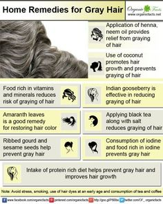 Home remedies for gray hair include use of natural ingredients such as Indian gooseberries, neem oil, henna, amaranth, black tea and salt, ginger and honey, sesame and chyawanprash.