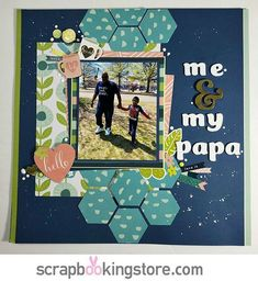 ScrapbookingStore May 2019 kit - Becky Canva Baby Scrapbook Pages, Baby Boy Scrapbook, Scrapbook Titles, Scrapbook Page Layouts, Travel Scrapbook, Scrapbook Cards, Scrapbooking Ideas, Wink Of Stella, Creative Ideas