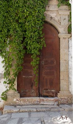 Old door in the Old Town of Rhodes by Aili A.