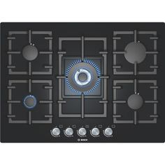 Bosch PPQ716B91E Avantixx Glass Base 71cm Gas Hob in Black | Appliances Direct